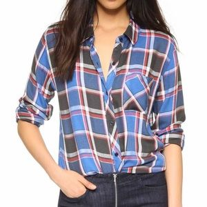 Women's Rails Plaid Blue Black red shirt Sz Small